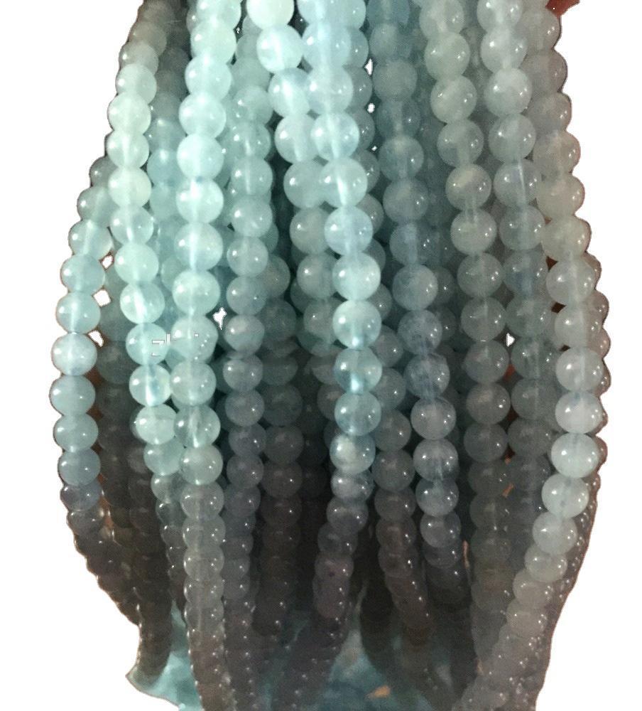 highest quality gemstone Milky Aquamarine Round Ball jewelry