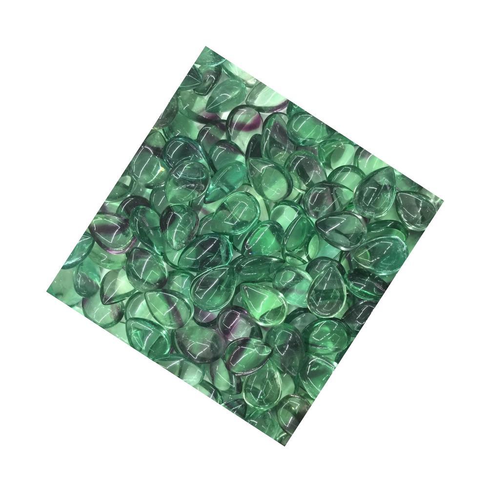 Wholesale Handmade Natural Bicolor Fluorite Mix Shape Cabochon Loose Stones