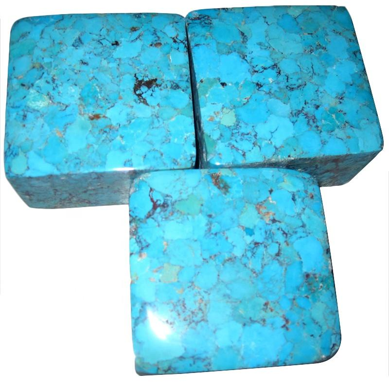 Genuine naturally compressed turquoise rough stock compressed turquoise block