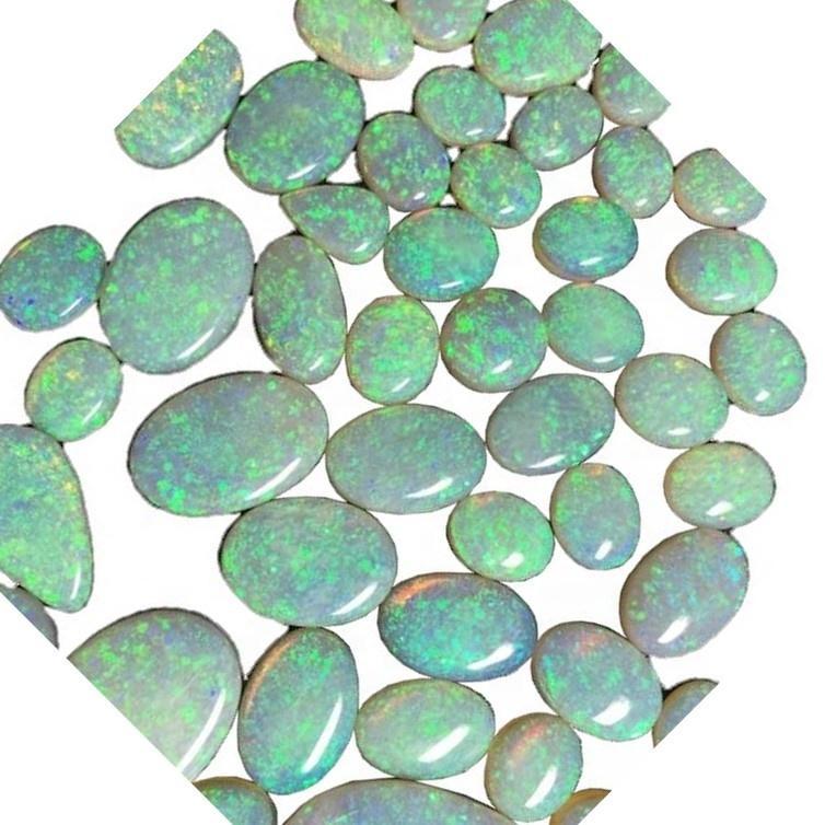 Natural Australian Opal Loose Cabochon Gemstone mass quantity make wholesale