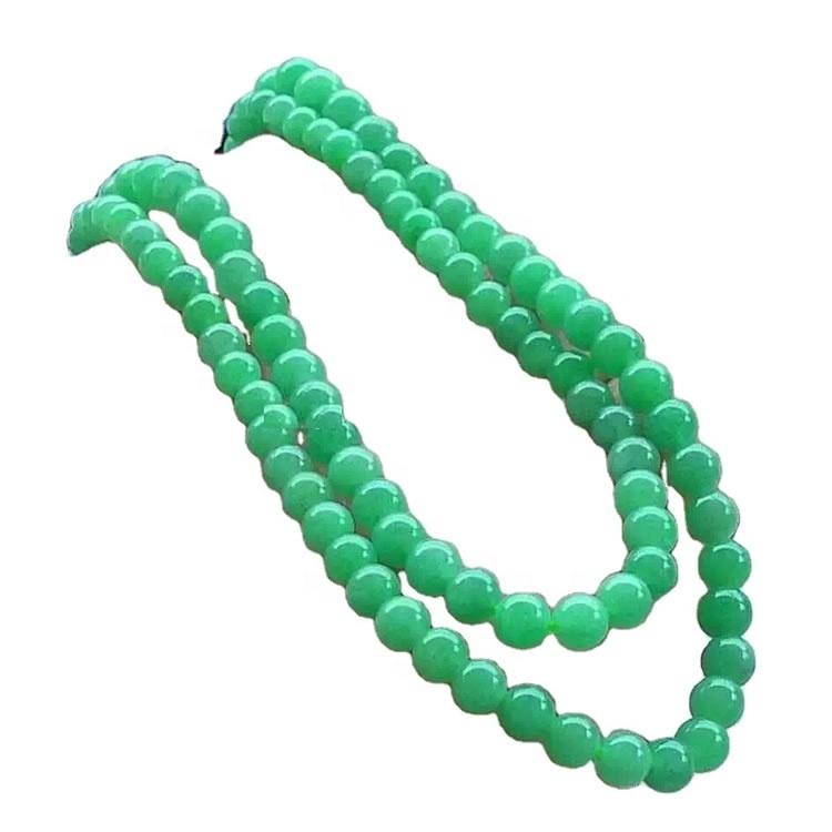 gemstone emerald precious stone beaded necklace