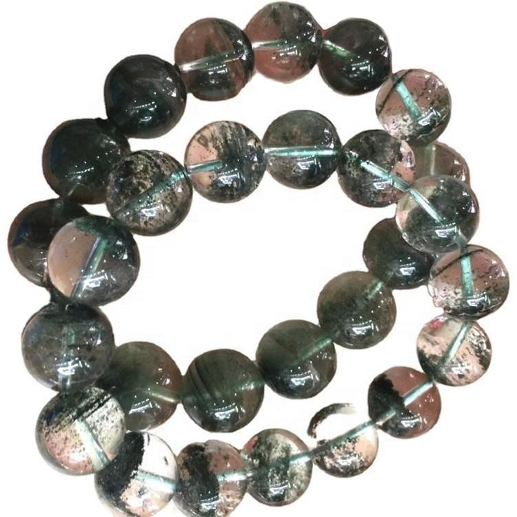Handmade beads Green Phantom Quartz crystal bracelets bangles