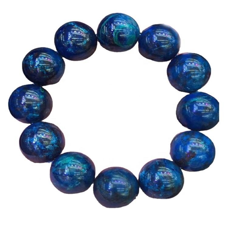 chrysocolla stone beads elastic bracelet gemstone beads stretch bracelet Chtysocolla