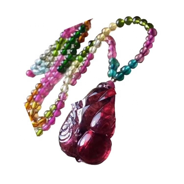 Red color higher quality Tourmaline Rubellite necklace jewelry