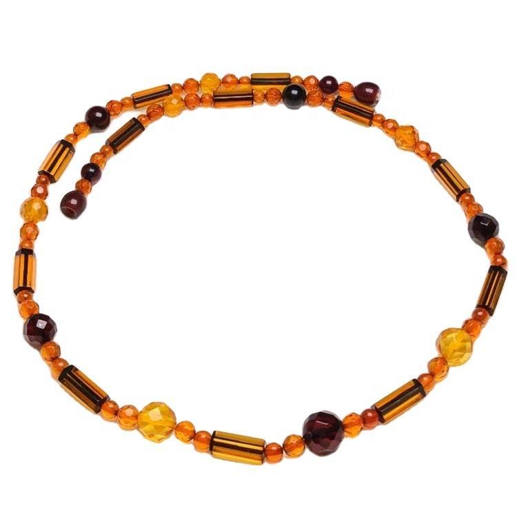 2021 fashion  amber  necklace jewelry