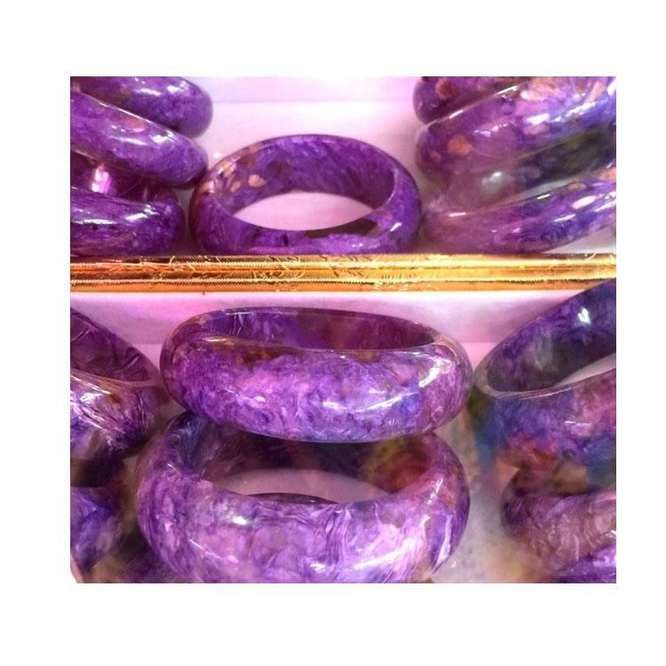 55-60mm round cut charoite wholesale bangle jewelry TOP 53mm Natural Purple Charoite Bangle Bracelet
