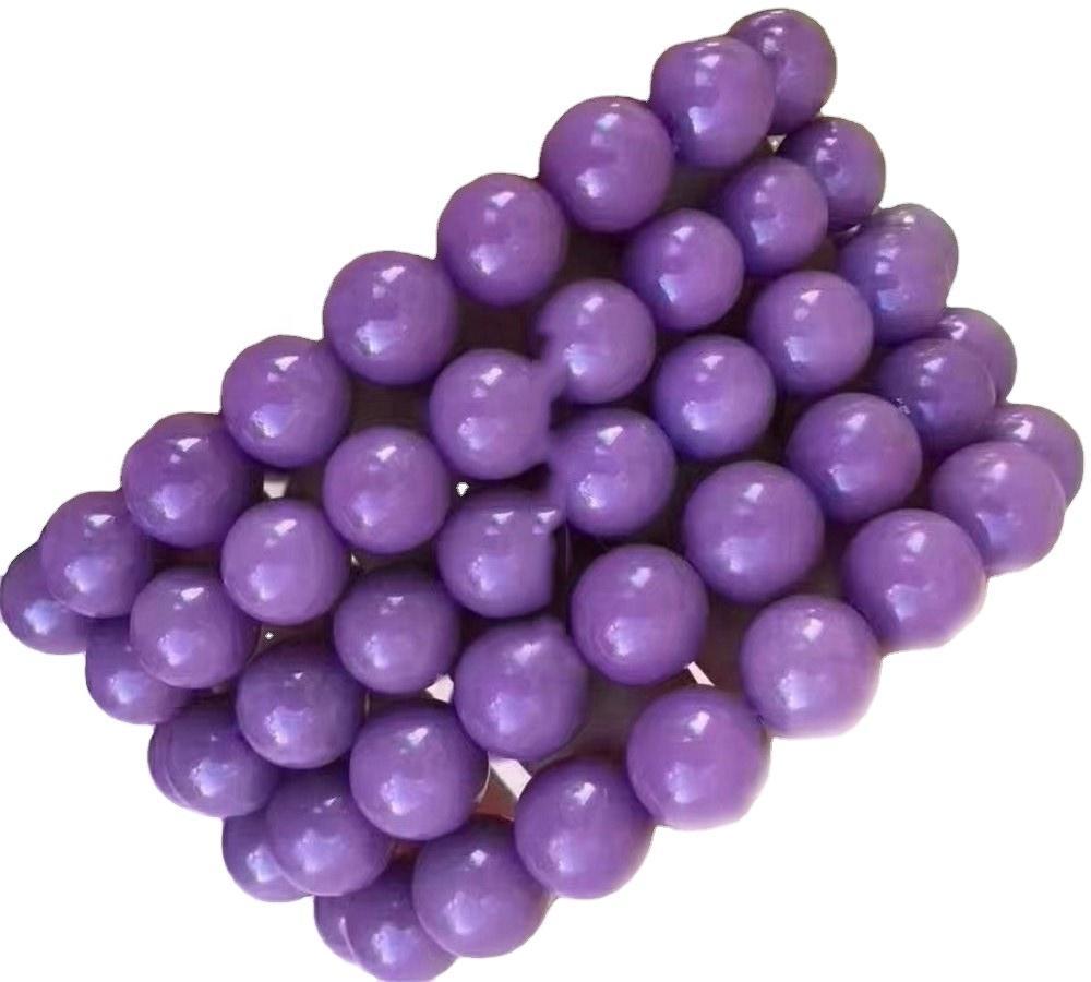 Imported from USA purple Phosphosiderite bracelets Natural Round Beads Stretch Bracelet