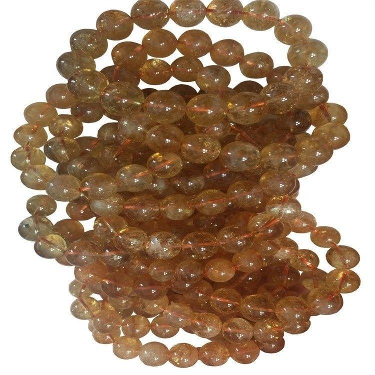 Vogue Natural  Gold  Rutilated quartz Bracelet  gemstone beaded  bracelets