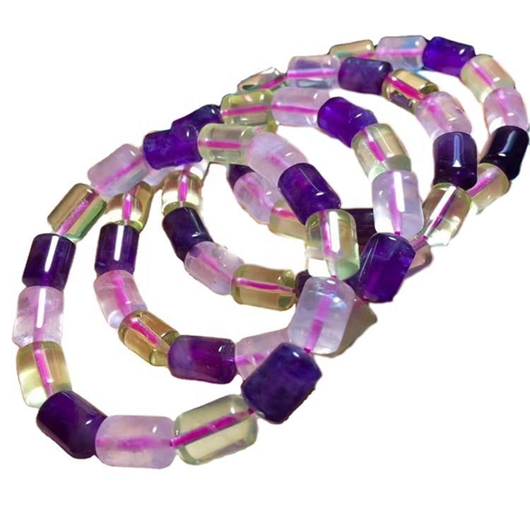 High Quality Amethyst Citrine Rose Quartz Beads Bracelet Amethyst Beaded Bracelets