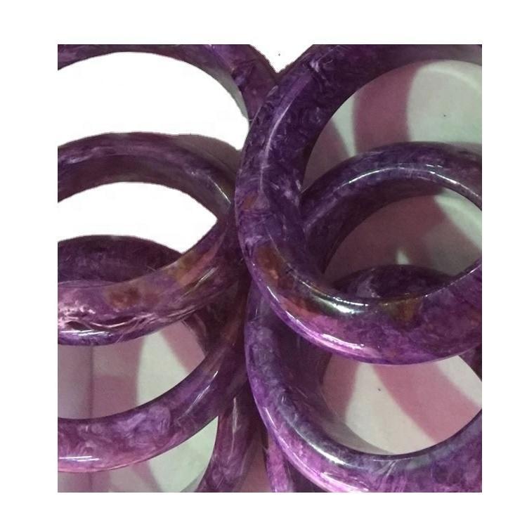 TOP 53mm Natural Purple Charoite Bangle Bracelet Deep Purple Charoite Siberian Stone Large Charoite Bracelet