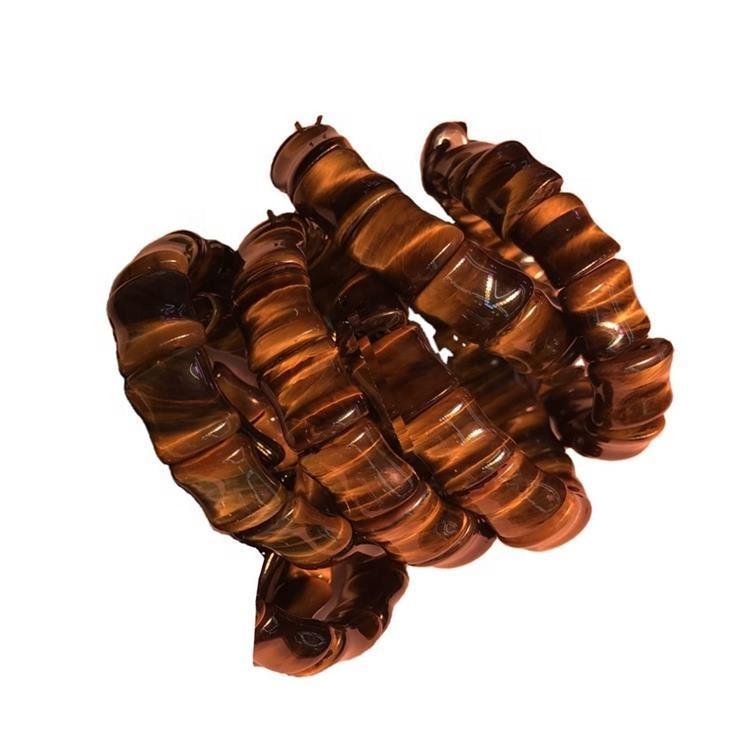 Naturally TigerEye fancy cut bangle jewellery make wholesale Natural tigereye round bracelet beautiful carving A jade bangle