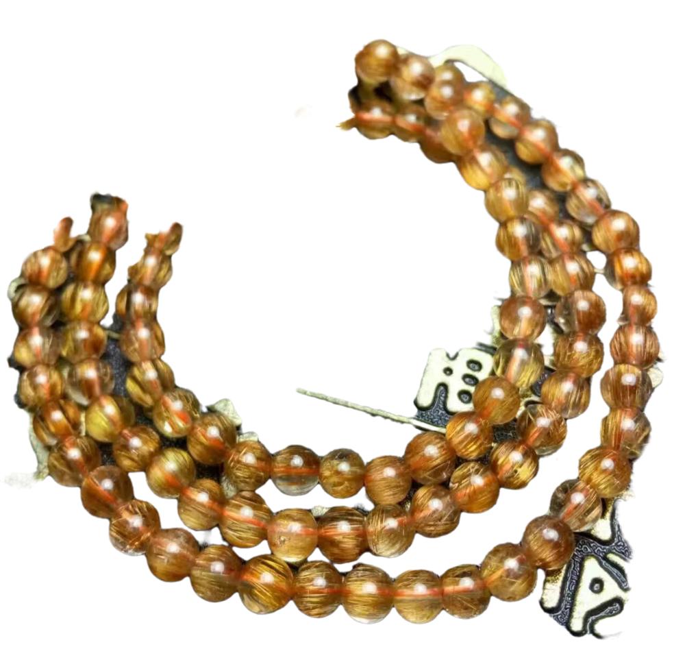 Red Rutilated Quartz beads bracelet beads Brazil Red Rutilated Quartz