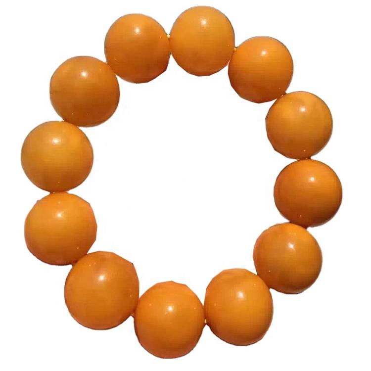 100% natural old rough to cut Size 17.5mm round beads Amber gemstone bracelet jewelry