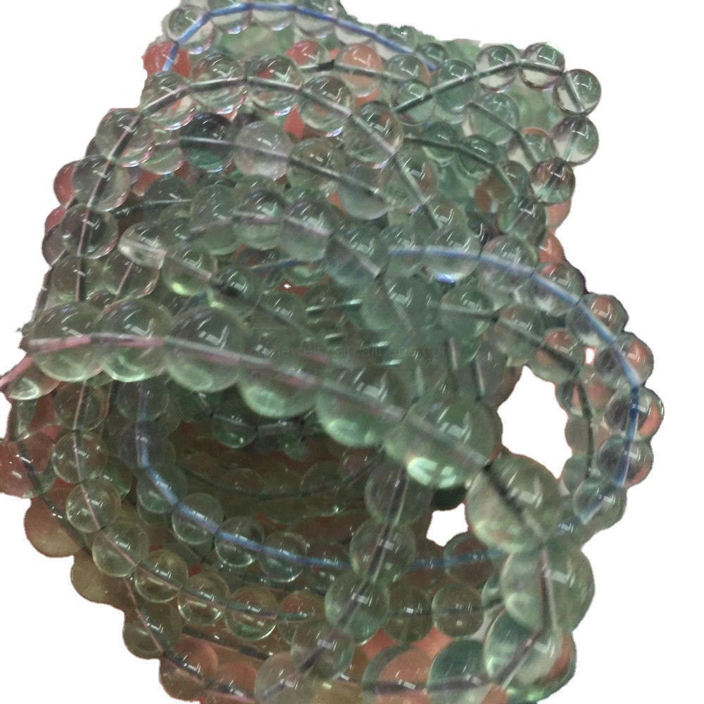 FLUORITE Rainbow Chip Beaded Bracelet Crystal Jewelry Gemstone Bracelet Healing Crystals and Stones