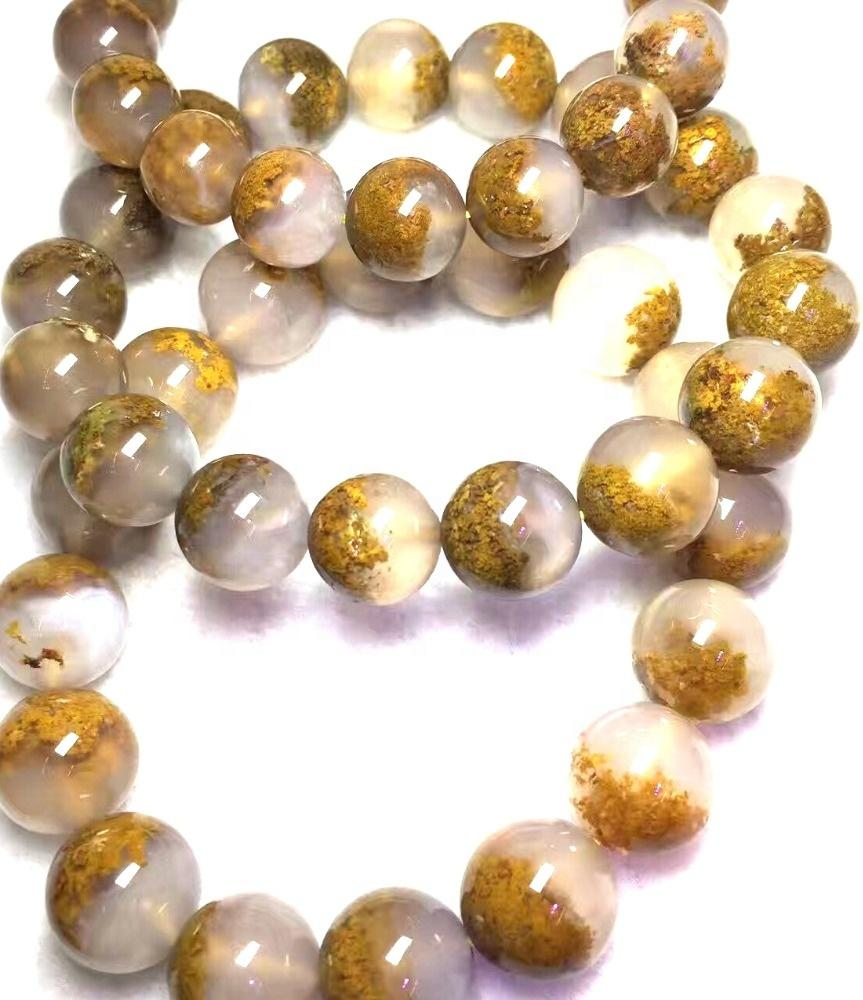 AGATE Round Beaded Bracelet  Crystal Jewelry  Gemstone Bracelet  Healing Crystals and Stones  Crystal Bracelet