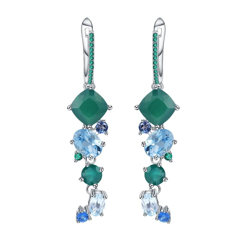 Diamond earrings/Turquoise earring/Sapphire earrings