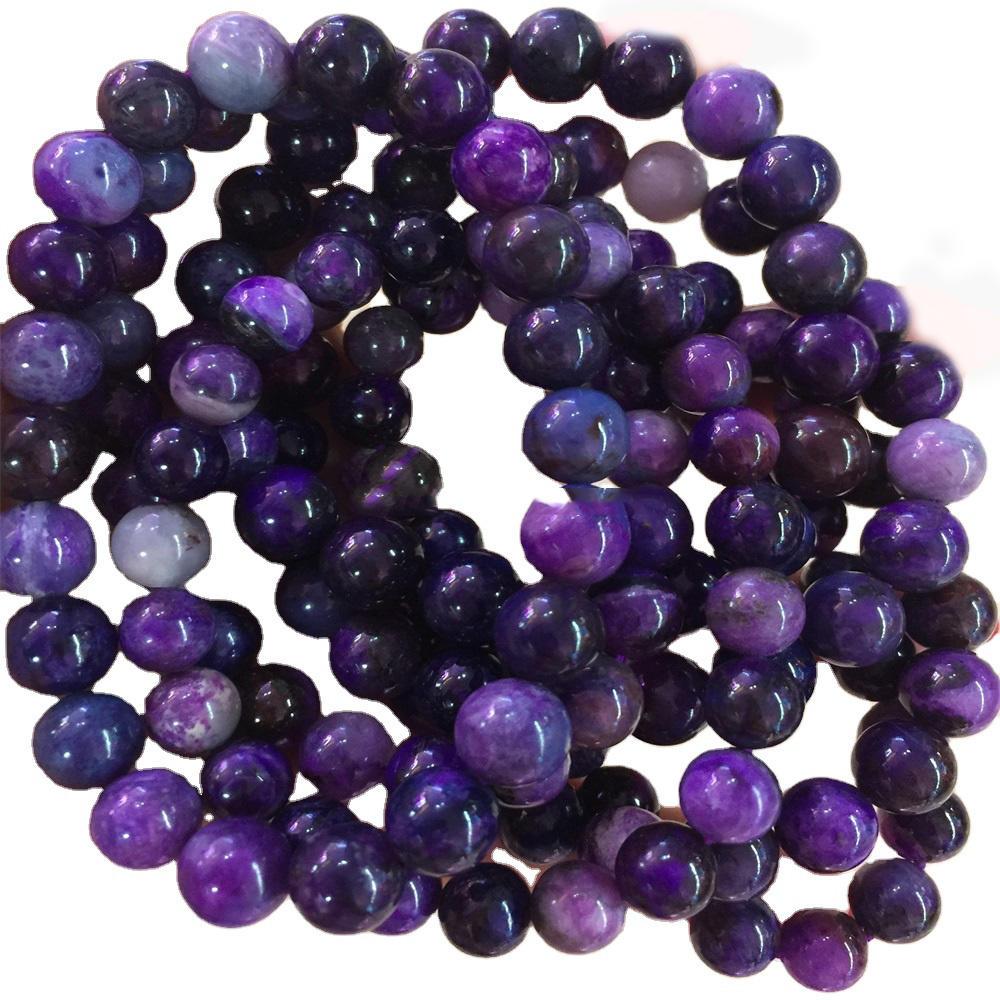 Gemstone wholesale sugilite round beads bracelet jewelry gemstone bracelet