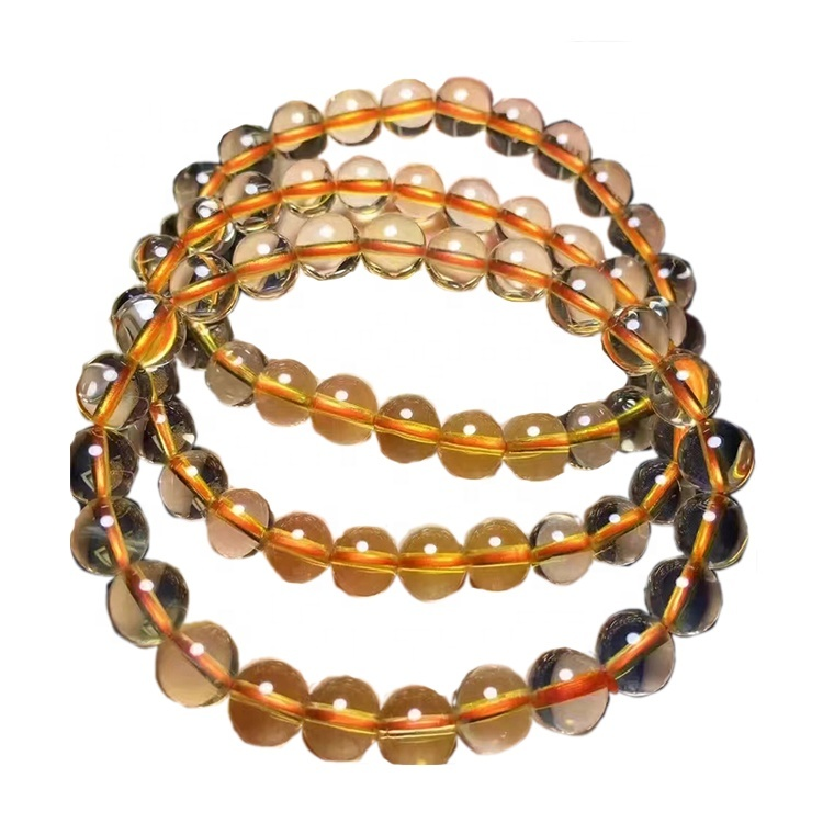 yellow color higher quality naturally Citrine 4mm 5mm 6mm 7mm 8mm Round Beads necklace jewelry