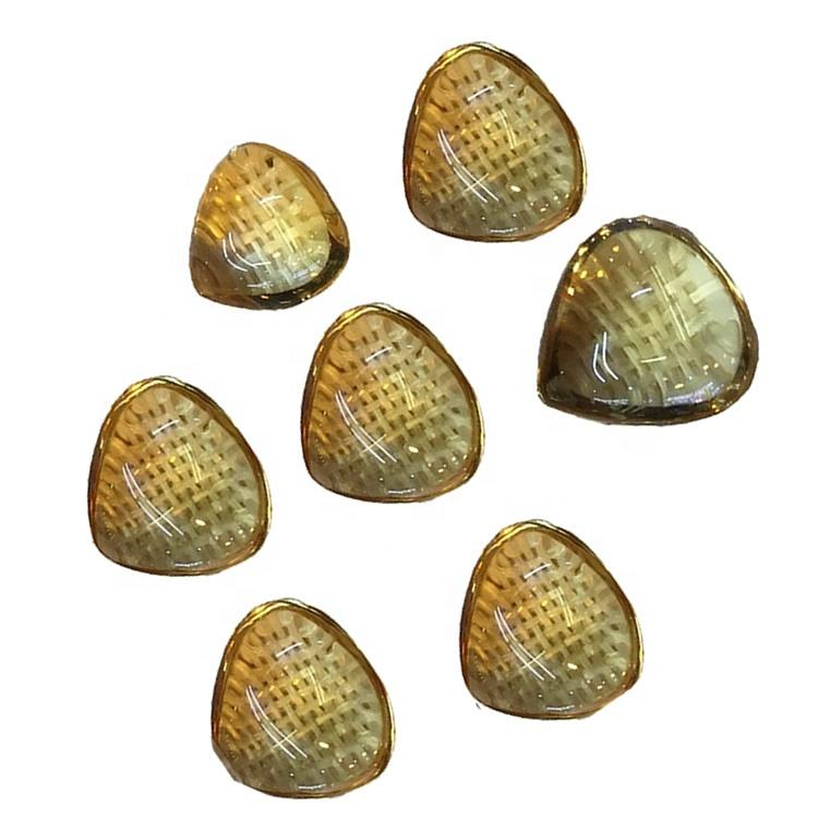 Natural Citrine Pear Cabochons Dark Yellow Color Fine Quality Citrine loose gemstone