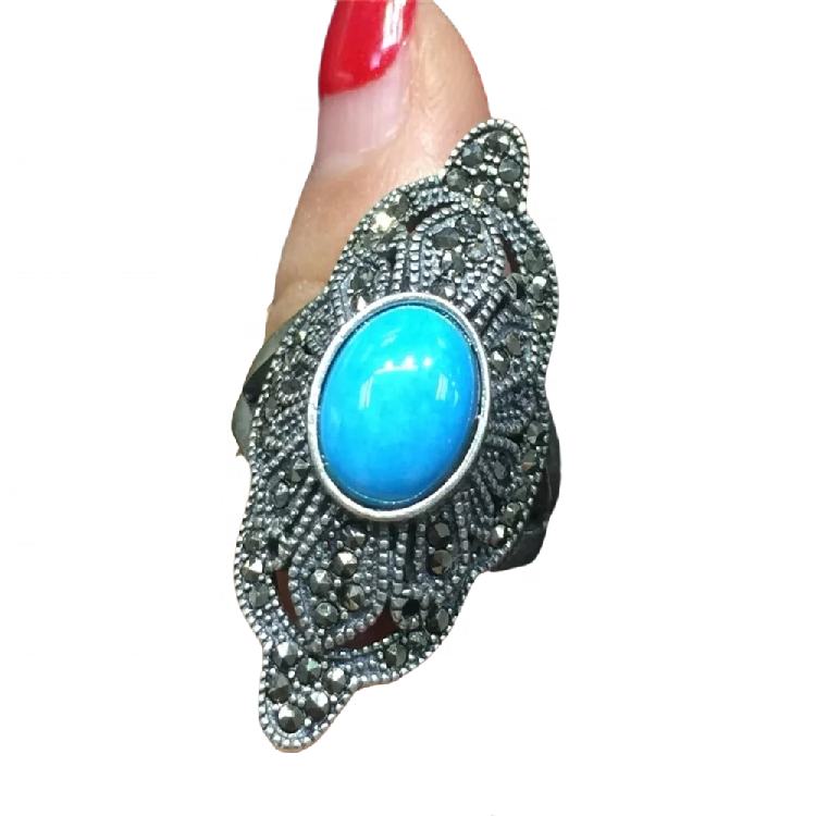 silver turquoise wedding rings jewellery turquoise gemstone Stone Rings