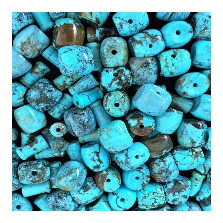 Turquoise Drum Beads Turquoise Gemstone spacer bead