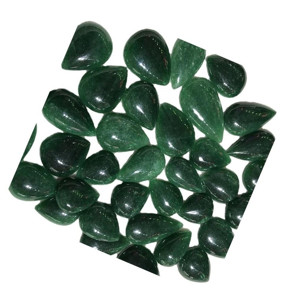 Green Strawberry quartz pear shape calibrated 100% natural cabochon AAA grade strawberry quartz