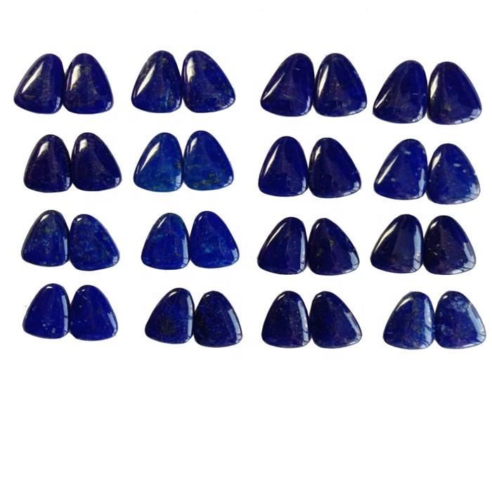 Wonderful  Lapis Lazuli pair Polishing Triangle Cabochon Gemstone
