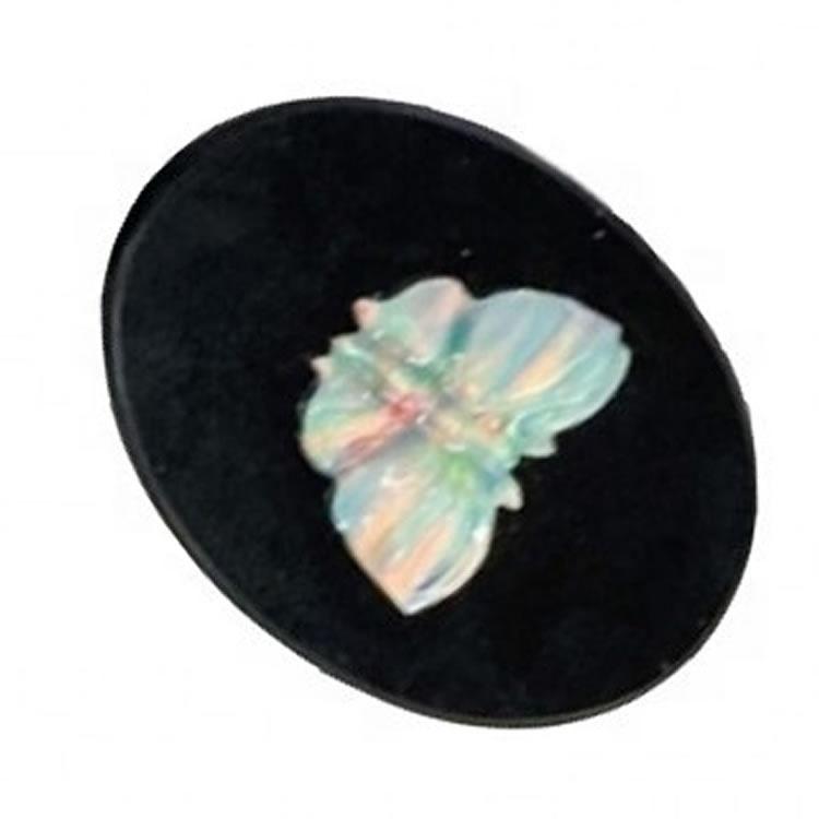 Natural Australian Doublet Opal Gemstone Small Loose Cabochon Fancy Shape Beautiful Quality