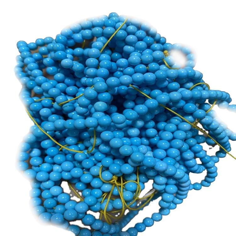 Wholesale Natural Blue Round beads Smooth loose gemstone Turquoise