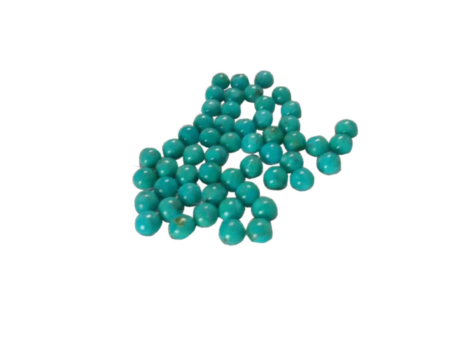 Natural Really Gemstones Turquoise 4mm round cabochon Round Turquoise Cabochon Gemstones Back Side Flat Turquoise Sky Blue