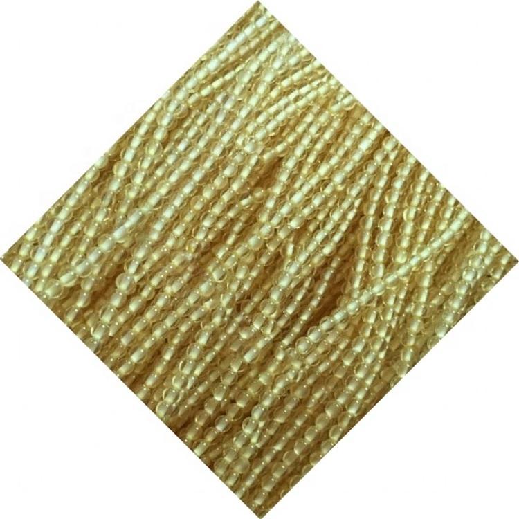 Wholesale Semi-precious Round Honey Color Topaz Gemstone Beads for Jewelry Making
