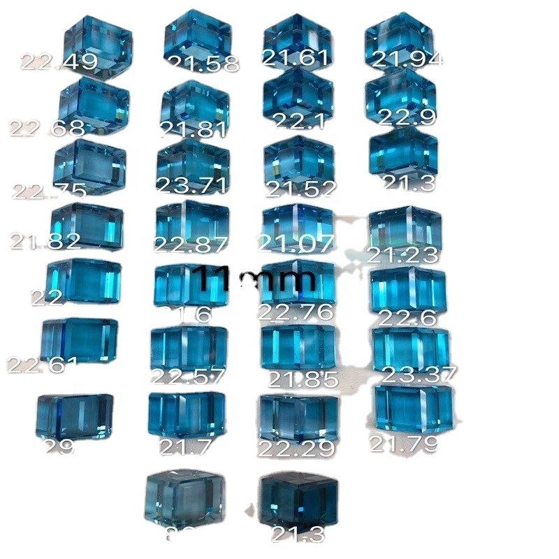 Natural Emerald Cut London Blue Topaz AAA Quality Loose Gemstone