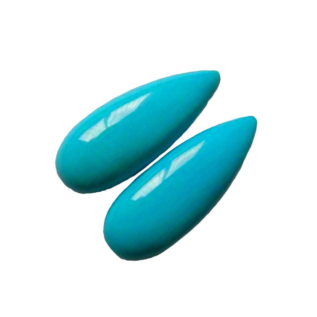 Natural Sleeping Beauty Turquoise cabochon pear Shapes 30mm jewellery