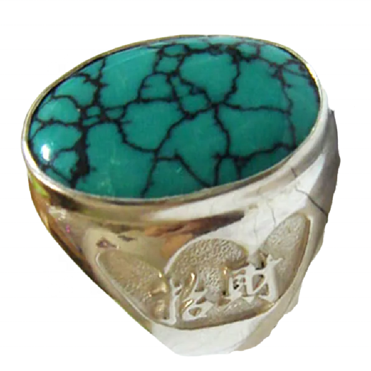 Turquoise rose ring jewellery Modern Turquoise Signet Ring Small Turquoise Silver Ring