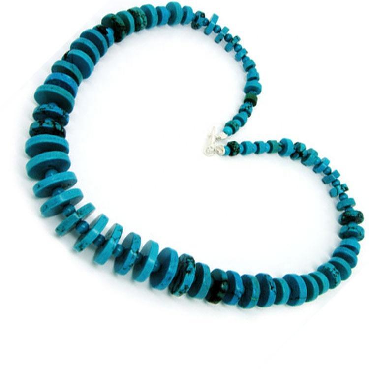 Turquoise lariat necklaces Dainty Turquoise  Beaded Necklace Minimalist Gemstone Necklace