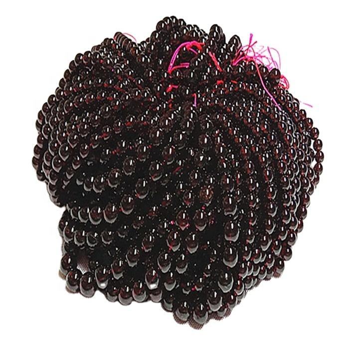 3mm round natural beads wine red garnet gemstone strand