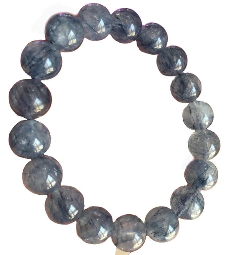 Nice Smooth Round Gemstone Loose Beads bule Rutilated Quartz