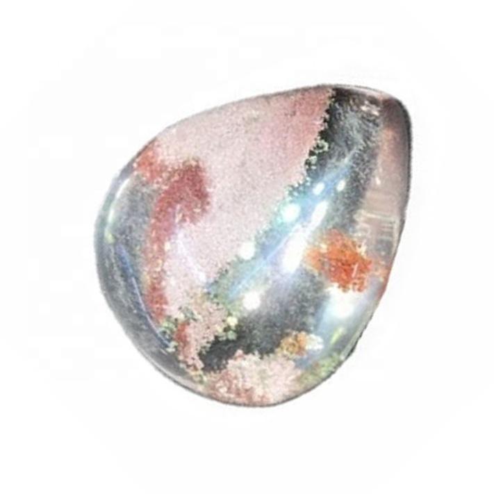 Natural Multi Color Phantom Quartz Cabochon Lodolite Quartz Gemstone Garden Quartz loose Gemstone For Jewelry Making
