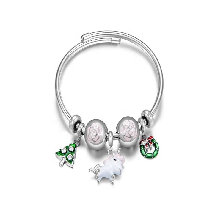 well known  brands 925 silver charms pendant bracelet