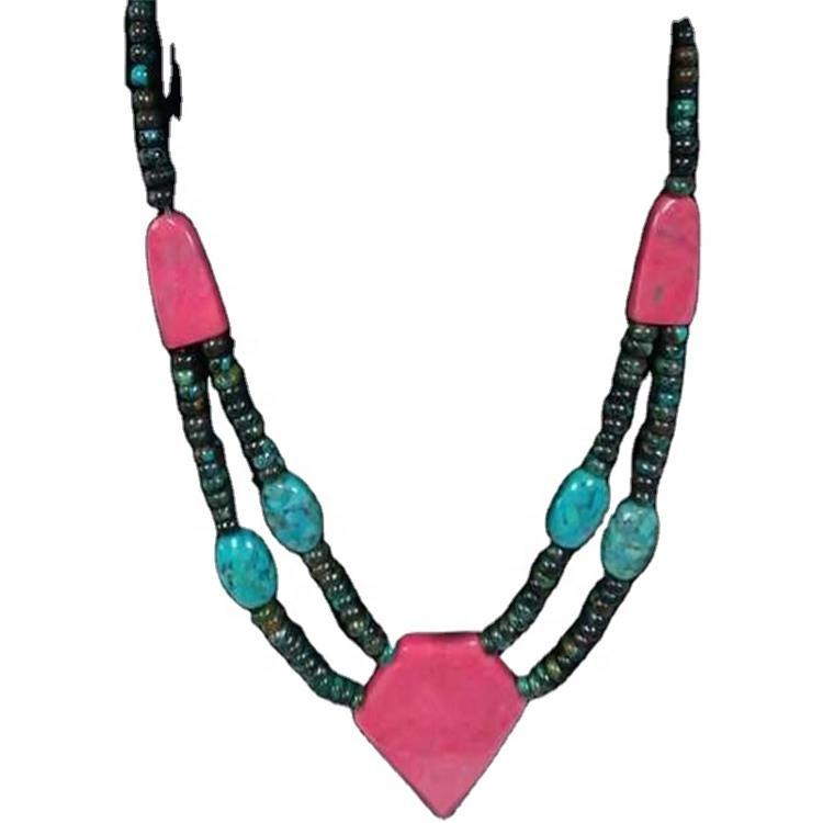 hot sale persian turquoise beads necklace jewelry