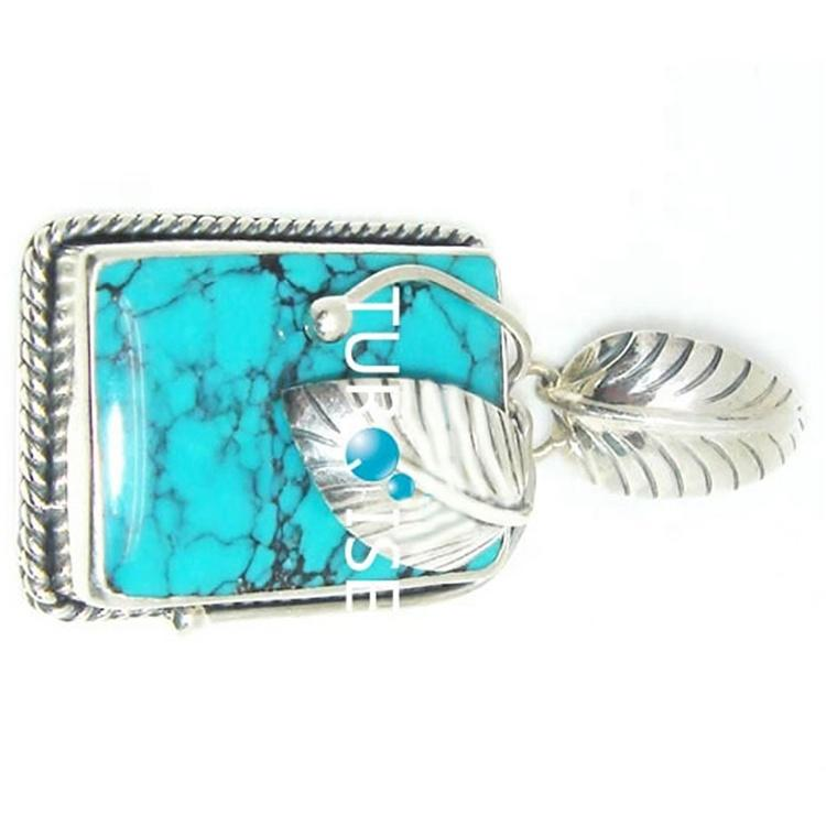 Hot-sale simple and elegant Turquoise beads Pendants Sterling Silver Turquoise Pendant