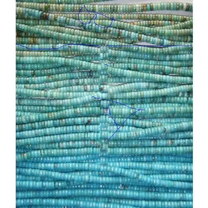 Turquoise Rondel beads  & Turquoise Abacus Beads