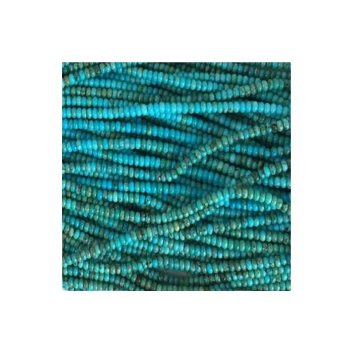 Naturelly Turquoise Rondel Beads for jewelry making