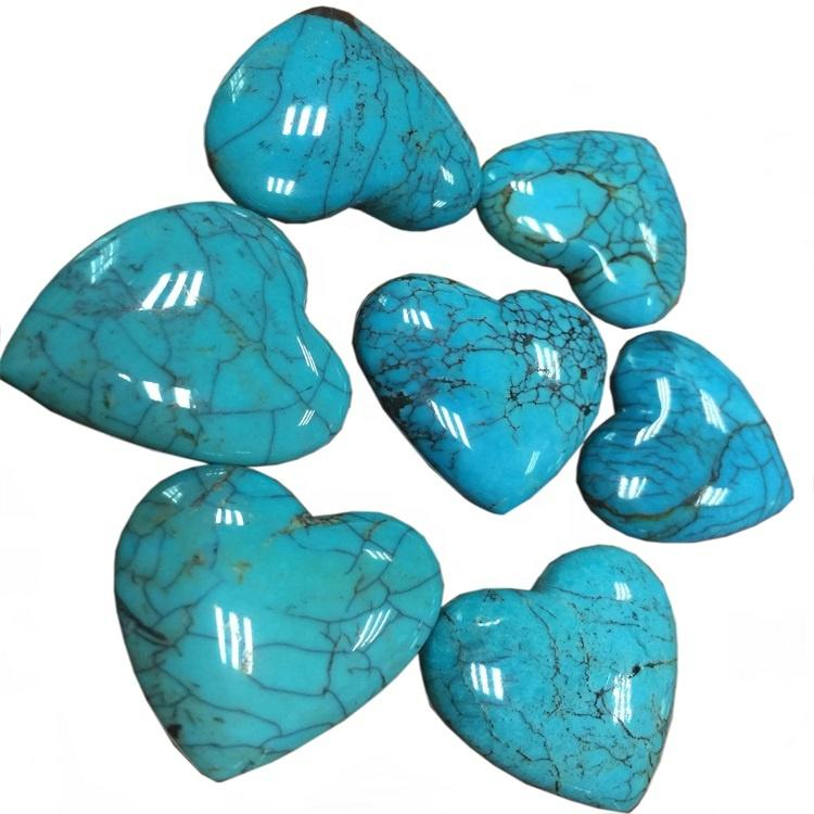Natural Arizona Turquoise Cabochon Heart Shape Loose Gemstone Turquoise Cabochon Jewelry Supplies