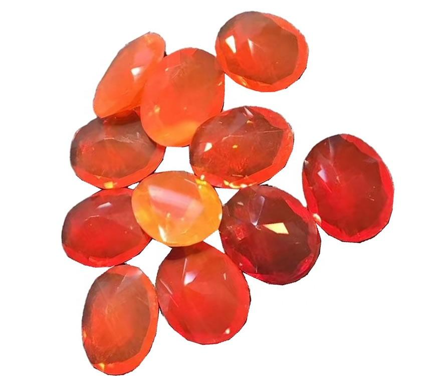 Natural Ethiopian Welo Fire Opal Oval Cabochon