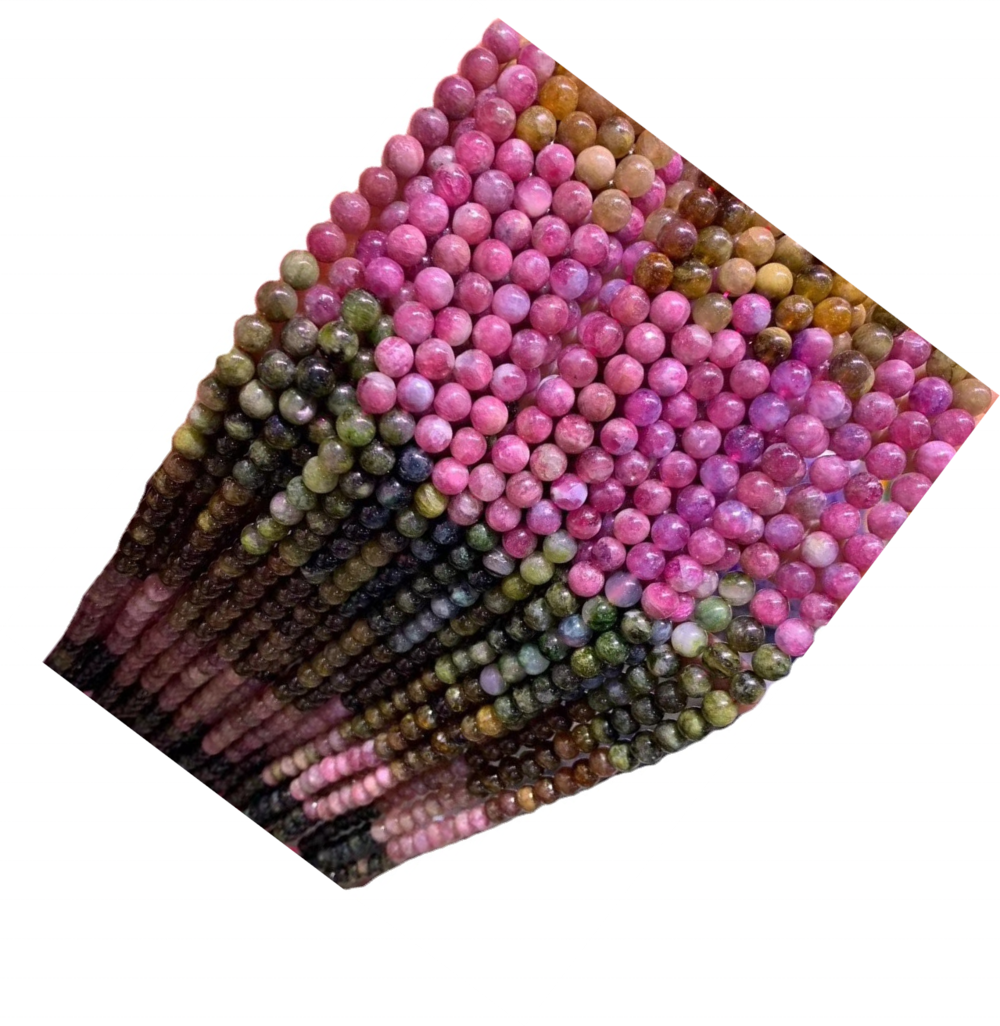 Rubellite Tourmaline Shaded Faceted Rondelle Beads Rubellite Tourmaline Beads Rubellite Rondelle Faceted Beads Tourmaline Rondel