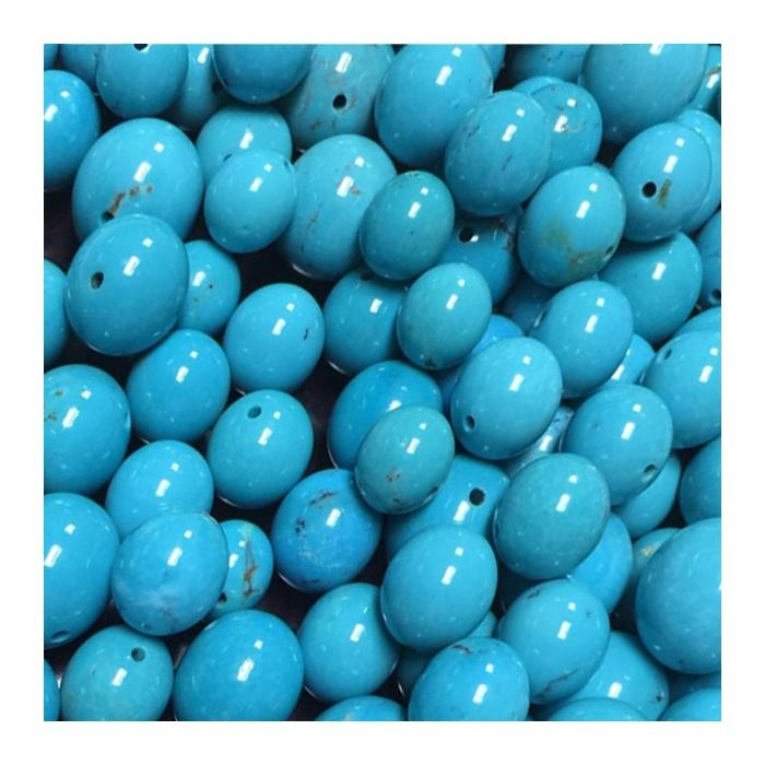 jewelry made in turkey turquoise Queen Turquoise Gemstone Blue Round Loose Beads