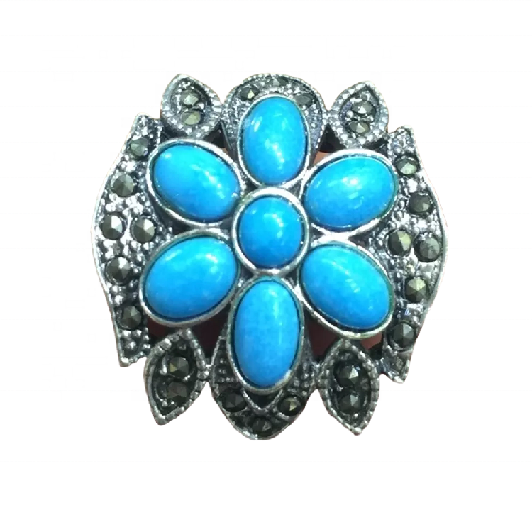 New Moon Turquoise Ring Sterling 925 Silver Turquoise rings jewellery