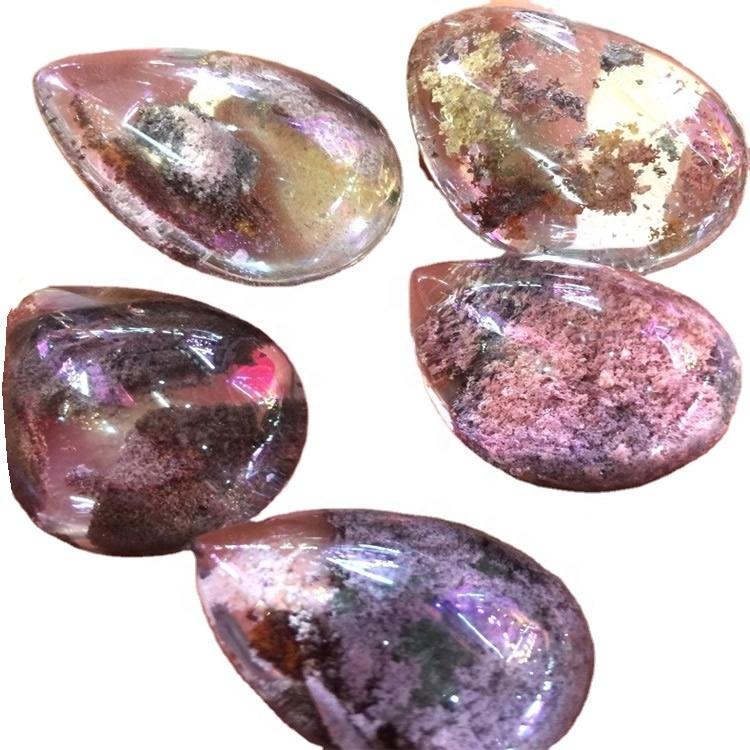 ghost quartz cabochon mass quantity can cut order
