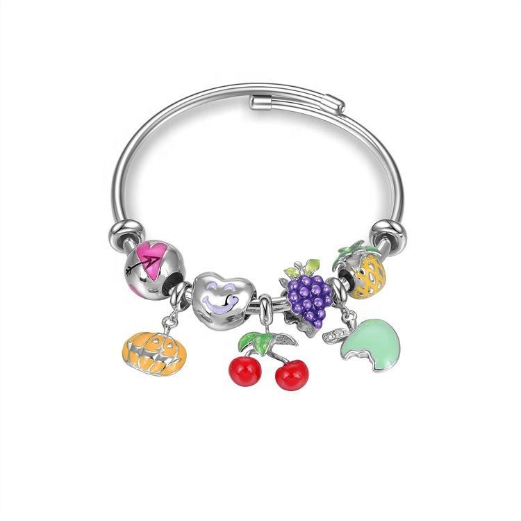 Classic  Womens 925 Sterling Silver Jewelry Charm Bracelet